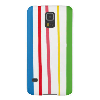 Yellow Blue Green Stripes Case For Galaxy S5