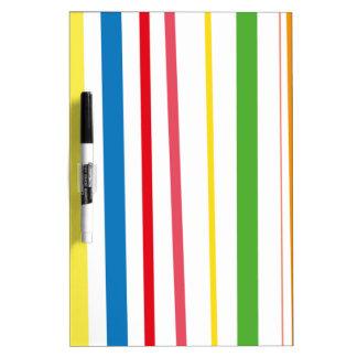 Yellow Blue Green Stripes Dry Erase Whiteboard