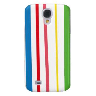 Yellow Blue Green Stripes Galaxy S4 Case