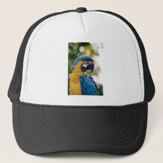 Yellow Blue Macaw Parrot Trucker Hat