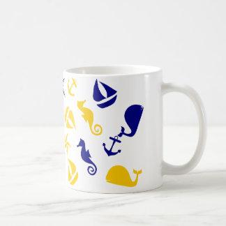 Yellow Blue Nautical Scatter Mug