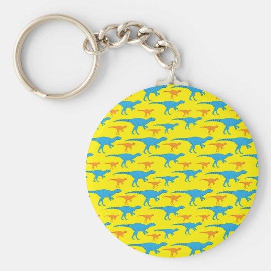 Yellow Blue Orange Dinosaur Designs Pattern Gifts Key Ring