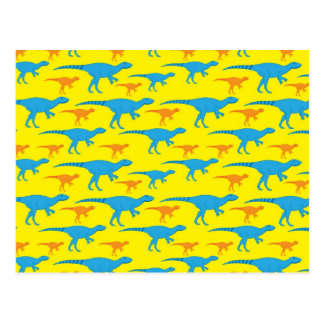 Yellow Blue Orange Dinosaur Designs Pattern Gifts Postcard