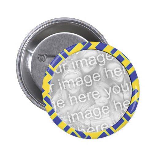 yellow blue photo frame button