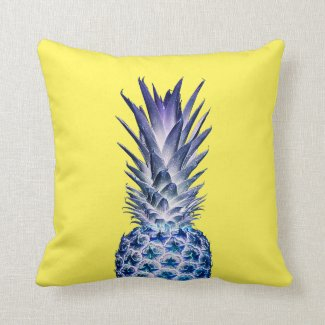 Yellow Blue Pineapple Cushion