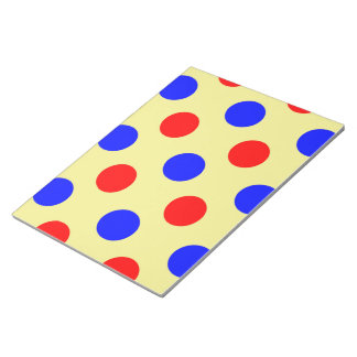 Yellow Blue & Red Polka dot Vector illustration Notepads