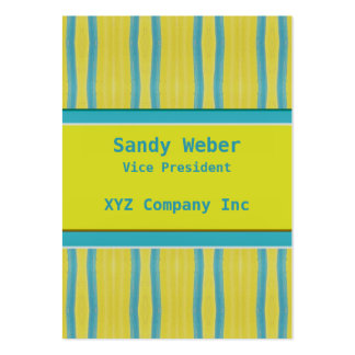 Yellow Blue retro Distressed lines Business Card Template