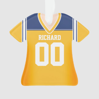 Yellow/Blue/White Football Jersey