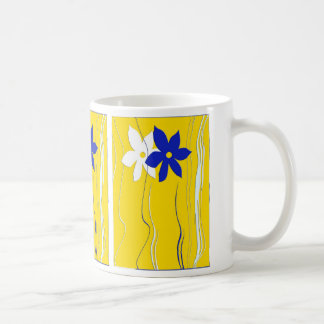 Yellow Blue White  Mug