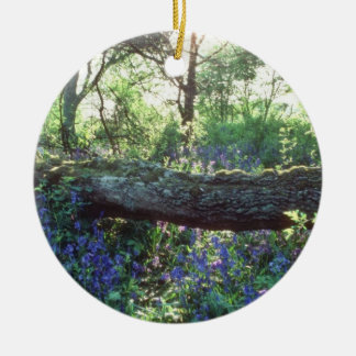 Yellow Bluebell wood, Howe Park Wood, Milton Keyne Christmas Ornament