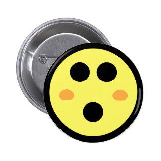Yellow Blushing Smiley Face 6 Cm Round Badge