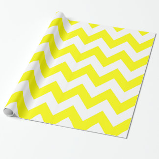 Yellow Bold Chevron Wrapping Paper