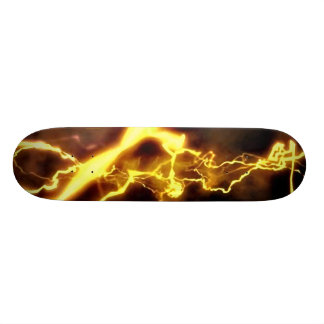Yellow Bolt Skateboard