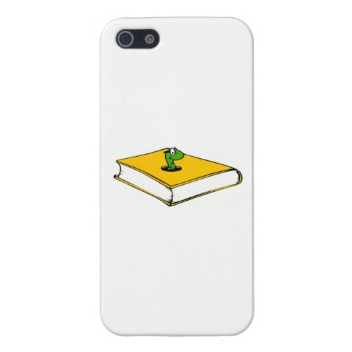 Yellow Book Worm iPhone 5 Case