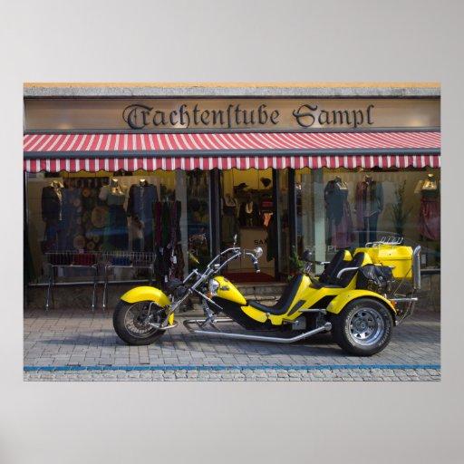 Yellow Boom Trike Posters