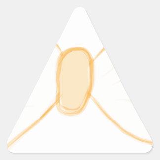 Yellow Bow Triangle Sticker