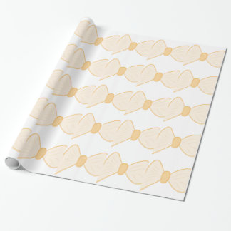 Yellow Bow Wrapping Paper