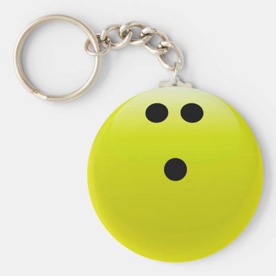 Yellow Bowling Ball Basic Round Button Key Ring