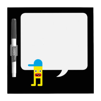 Yellow boy, blue cap Dry-Erase whiteboard