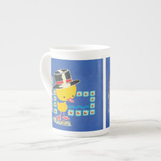 Yellow Boy Duckling with Top Hat Painting Tea Cup