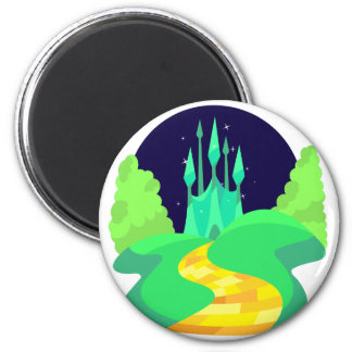 yellow brick road 6 cm round magnet
