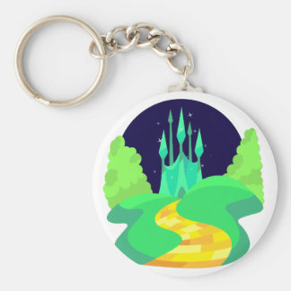yellow brick road key ring