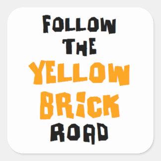 yellow brick road square sticker