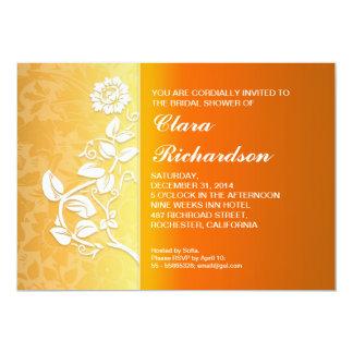 yellow bright bridal shower invitations