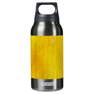 YELLOW BRIGHT fun ink pattern Insulated Water Bottle