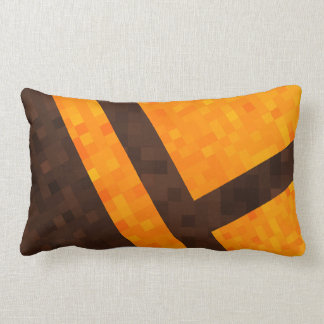Yellow Brown  Abstract Mosaic Tile Pattern, Lumbar Cushion