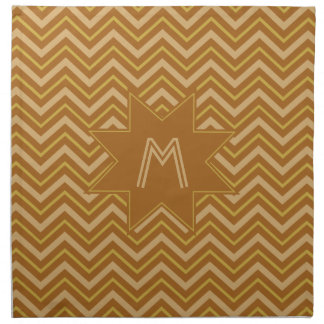 Yellow & Brown Chevron Pattern cloth napkins