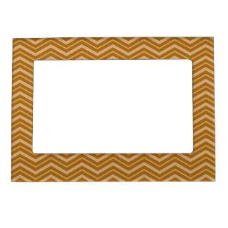 Yellow & Brown Chevron Pattern frame