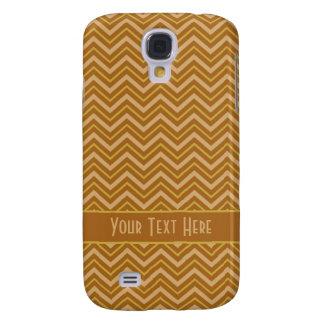 Yellow & Brown Chevron Pattern HTC case