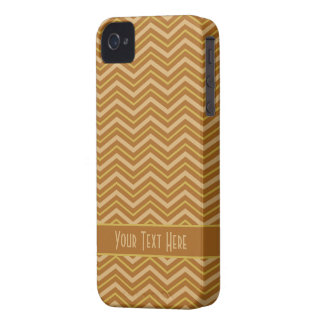 Yellow & Brown Chevron Pattern iPhone case-mate