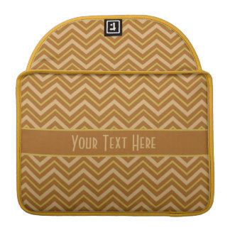 Yellow & Brown Chevron Pattern MacBook sleeve