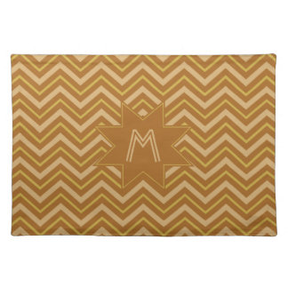 Yellow & Brown Chevron Pattern placemat