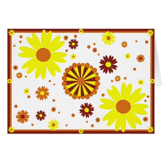 Yellow & Brown Flowers Card