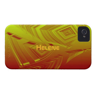 Yellow & Brown iPhone 4 case for Helene