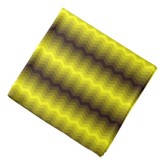 Yellow-brown zigzag bandana