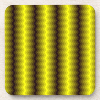 Yellow-brown zigzag coaster