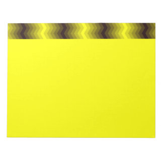 Yellow-brown zigzag notepad