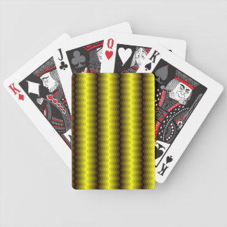 Yellow-brown zigzag playing cards