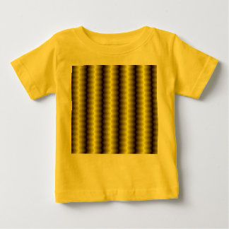 Yellow-brown zigzag T-shirt