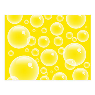 Yellow Bubbles Post Cards
