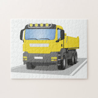 yellow building sites truck jigsaw puzzle