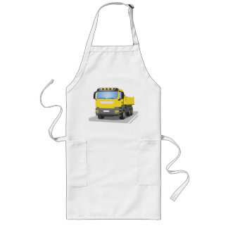 yellow building sites truck long apron