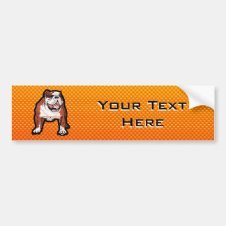 Yellow Bulldog Bumper Sticker
