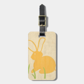 Yellow Bunny and Green Grass by Chariklia Zarris Luggage Tag