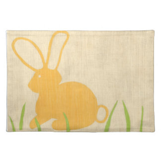 Yellow Bunny and Green Grass by Chariklia Zarris Placemat