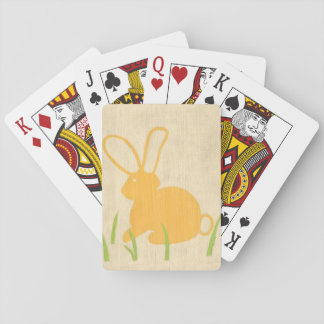 Yellow Bunny and Green Grass by Chariklia Zarris Poker Deck